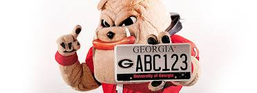 uga alumni car tag of car tag of