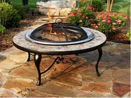 Firepit Table Direct 40 Inch Copper And Slate Pit Table With Stainless
