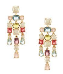 pearl chandelier kate spade new york a new hue faux pearl chandelier earrings