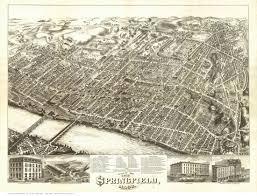 Western Massachusetts Map by Springfield Massachusetts 1875 O H Bailey Cities Pinterest