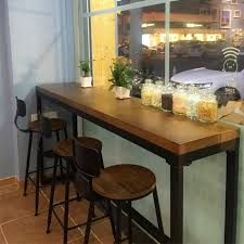 Wall Bar Table Wrought Iron Starbucks Tables And Chairs Casual Cafe Bar