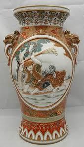 Japanese Kutani Vases Japanese Kutani Porcelain Vase Late Meijii Earthenwares
