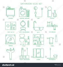 bathroom icon set collection high quality stock vector 509950159