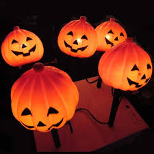 lawn stakes for lights pumpkin lawn stakes light decoration northern lights and trees