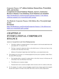 corporate finance 11th edition solutions manual ross westerfield