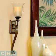 Flameless Candle Wall Sconce Serafina Wall Sconce With 3x5inch Led Flameless Wax Candle
