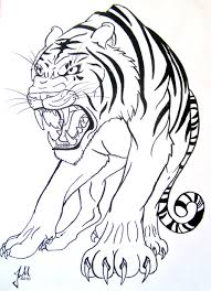 tiger black and white drawing at getdrawings com free for personal