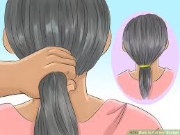 trimming hair angle cut how to cut hair straight with pictures wikihow