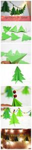 paper christmas tree garland tutorial