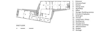 storage building floor plans occupational activity center ince mengeš jereb in budja