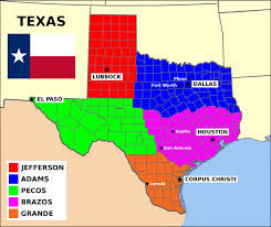 Map Of The State Of Texas State Of Texas Split Into 5 States By Matritum On Deviantart