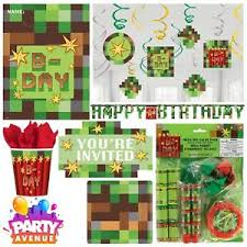minecraft party supplies tnt boys birthday minecraft party pixel tableware supplies balloons
