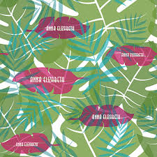 tropical wrapping paper tropical leaves personalized wrapping paper pricing options