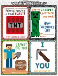 free printable minecraft valentines w printable candy wrappers