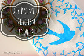 diy painted kitchen towels youtube