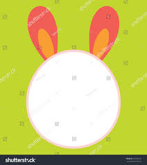 big empty bunny head template that stock vector 128043152