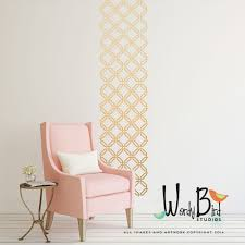 woven trellis pattern vinyl wall decal wall stickers set zoom