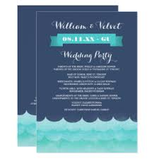 Nautical Wedding Programs Beach Wedding Program Invitations U0026 Announcements Zazzle
