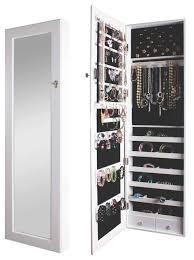 jewlery armoire mirror best solutions of door jewelry cabinet over the door wall hanging