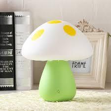 multicolor changeable mushroom atmosphere table lamp romantic