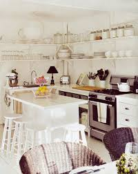 Open Shelves In Kitchen by Open Wood Shelves In Kitchen Wooden Stained Chair Varnished Wooden