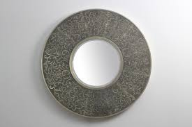 Home Interior Mirrors by Shagreen Charcoal Damask Mirror Forwood Design