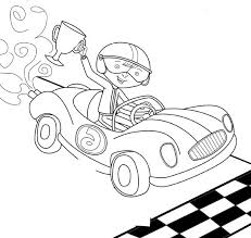 boy winner track racing coloring race car car coloring