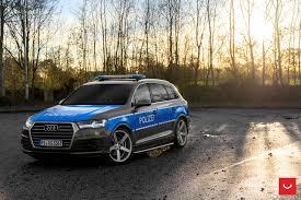 audi slammed slammed audi q7 police car rides on vossen cv3r rims autoevolution