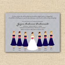 invitations for bridesmaids bridesmaids luncheon invitation bridal brunch diy by poofyprints