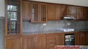 corner varnished oak wood kitchen wall cabinet combined mosaic