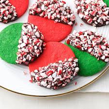 peppermint crunch christmas cookies recipe taste of home