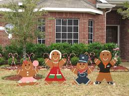 christmas gingerbread house yard decoration house decor