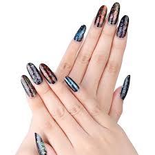 amazon com makartt oval nails tips natural full cover acrylic