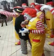 siege burger king ronald mcdonalds chant you re sh t you you are in burger