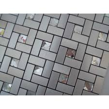Peel And Stick Mosaic Tiles Diamond Glass Tile Backsplash Pinwheel - Glass and metal tile backsplash
