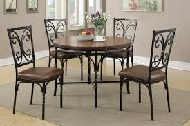 metal frame table and chairs 5pcs dining set f1012 furniture mattress los angeles and el monte