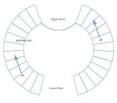 Floor Plan Spiral Staircase Double Circular Stairs Designs