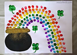 pot of gold fingerprint craft funnycrafts