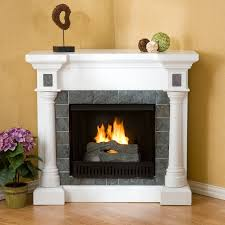 simple ideas corner fireplace tile corner fireplaces design