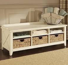 Indoor Storage Ideas Bench Storage Bench Seat With Baskets 2 Stunning Hallway Bench