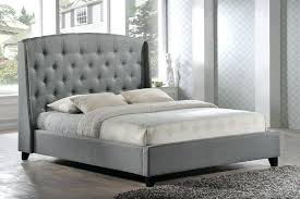 King Upholstered Platform Bed Grey Tufted King Bed Jkimisyellow Me