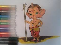 ganesha coloring pages kids speed colouring bal ganesh