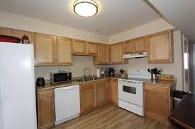 traditional kitchen with raised panel u shaped in blue ash oh
