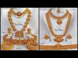 gold wedding necklace set images 1 gram gold bridal jewellery set with price and whatsapp number jpg