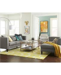 Turquoise Living Room Chair by Braylei Track Arm Sofa With 3 Toss Pillows Created For Macy U0027s