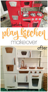 Free Kitchen Makeover - play kitchen makeover salvage sister and mister