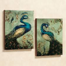 Wall Art Images Home Decor Peacock Canvas Wall Art Set