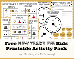 free new year u0027s eve kids printable activity pack the diary of a