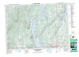 map paper lac memphremagog qc maps free topographic map sheet