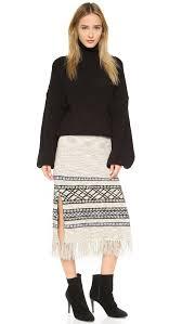 sweater skirt free fringe sweater skirt shopbop